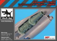 A48083 1/48 Kawasaki T 4 engine Blackdog