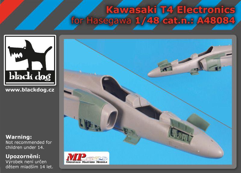 A48084 1/48 Kawasaki T 4 electronics Blackdog