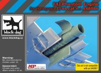 A48086 1/48 F4J Phantom engine Blackdog