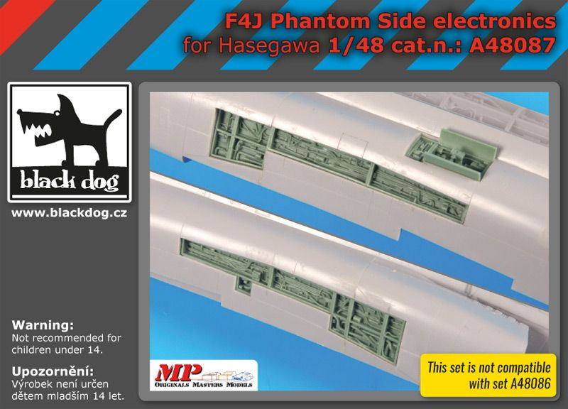 A48087 1/48 F4J Phantom side electronics Blackdog