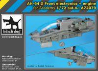A72079 1/72 AH-64 D Front electronics + engine