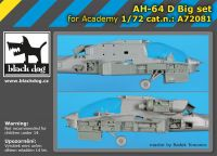 A72081 1/72 AH-64 D big set Blackdog