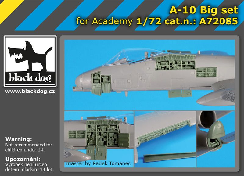 A72085 1/72 A-10 Big set Blackdog