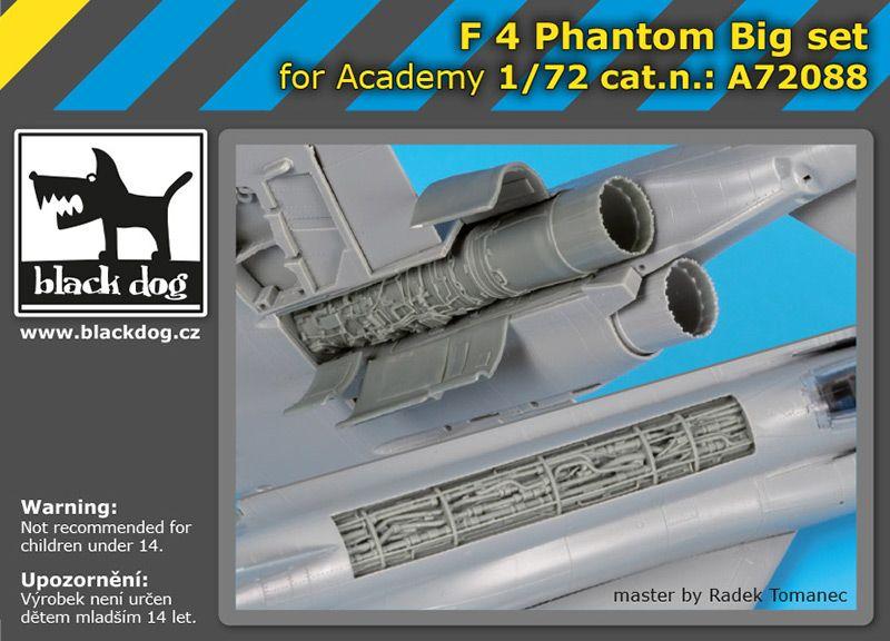 A72088 1/72 F-4 Phantom big set Blackdog