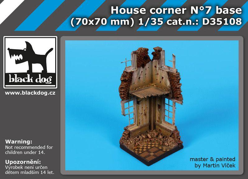 D35108 1/35 House corner N°7 base Blackdog