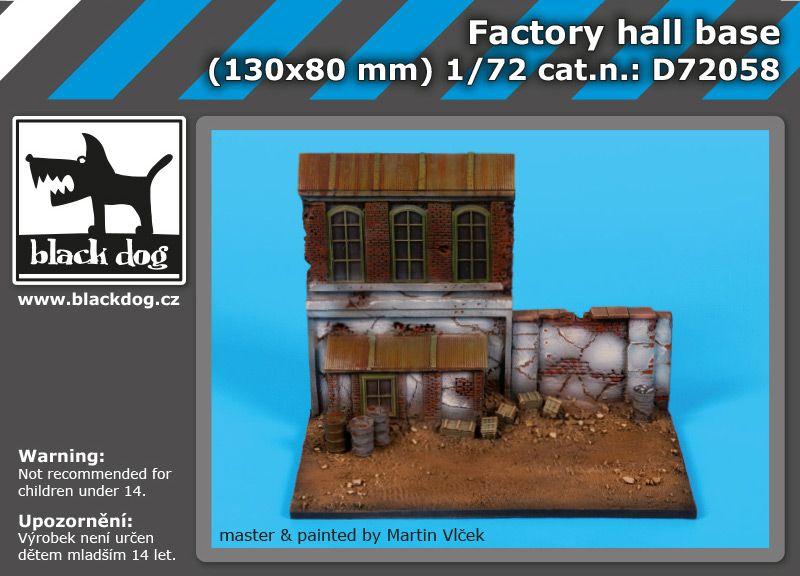 D72058 1/72 Factory hall base Blackdog