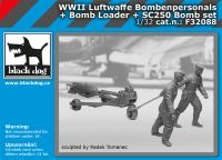 F32088 1/32 WW II Luftwaffe bombenpersonals + Bomb loader + SC250 bomb set