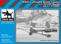 F32089 1/32 WW II Luftwaffe Bomb loader + SC250 bomb Blackdog