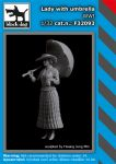 F32093 1/32 Lady with umbrella WW I Blackdog