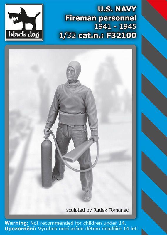 F32100 1/32 US NAVY fireman personel 1941-45 Blackdog