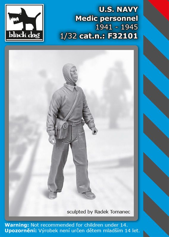 F32101 1/32 US NAVY medic personel 1941-45 Blackdog