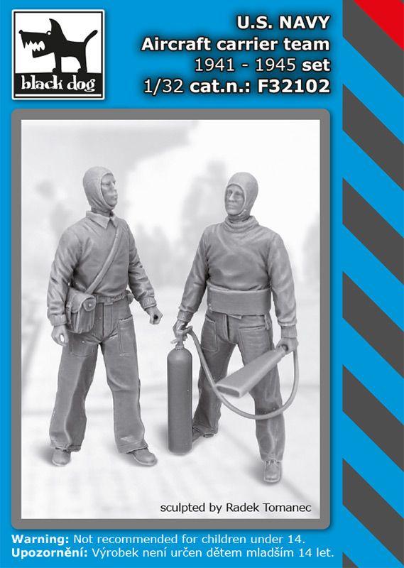 F32102 1/32 US NAVY aircraftcarrier team 1941-45 set Blackdog
