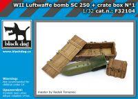 F32104 1/32 WW II Luftwaffe bomb SC 250 + crate box N°1
