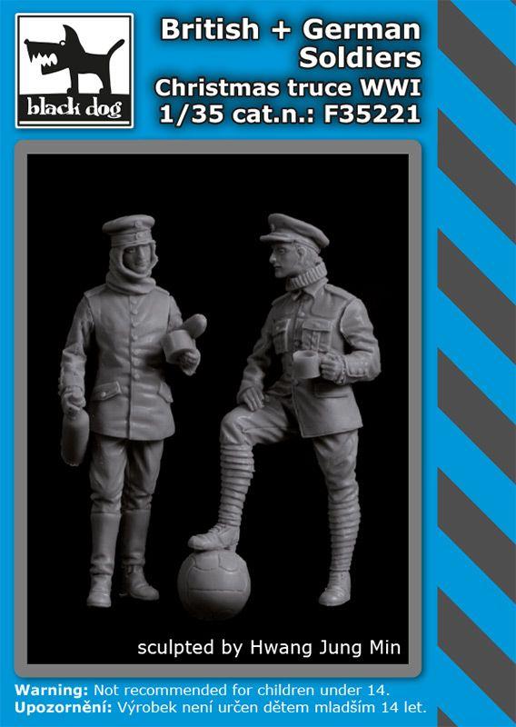 F35221 1/35 British+German soldiers Christmas truce WW I Blackdog