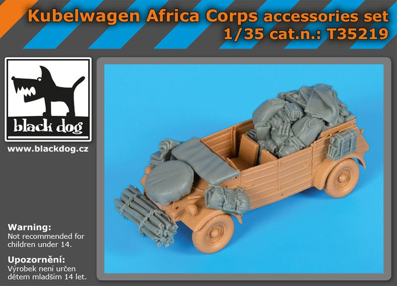T35219 1/35 Kübelwagen Africa Corps accessories set Blackdog