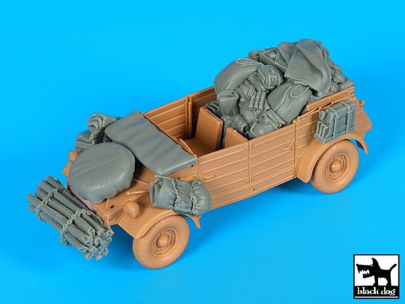 VW Kübelwagen Africa Corps Accessories Set von Blackdog in 1//35