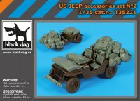 T35221 1/35 US Jeep accessories set Blackdog