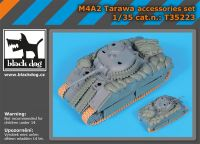 T35223 1/35 M4A2 Tarawa accessories set Blackdog
