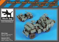 T35224 1/35 British SAS jeep Africa accessories set