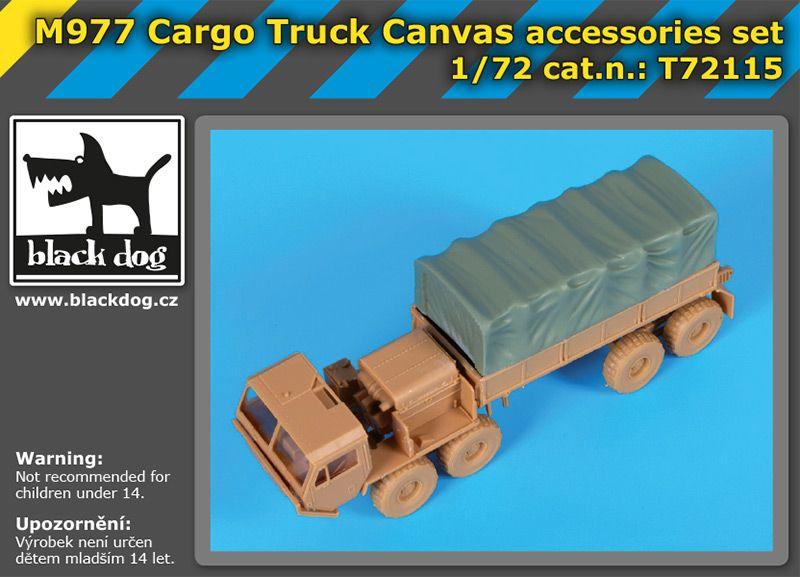 T72115 1/72 M 977 Cargo truck canvas accessories set Blackdog