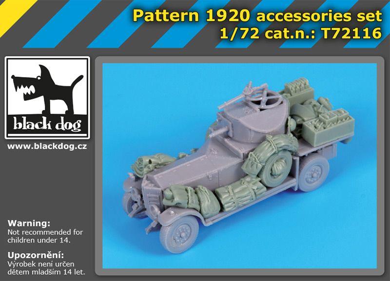 T72116 1/72 Pattern 1920 accessories set Blackdog