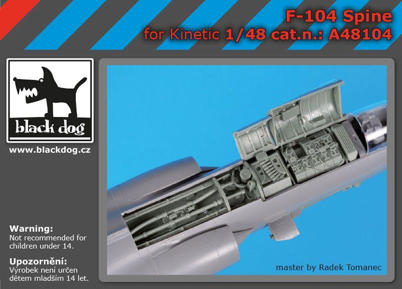 A48104 1/48 F-104 spine Blackdog