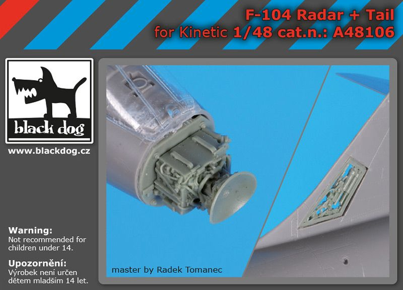 A48106 1/48 F-104 radar+tail Blackdog