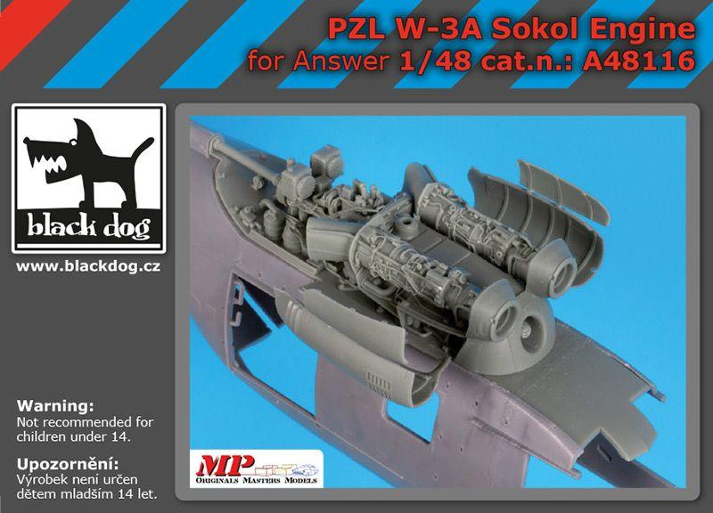 A48116 1/48 PZL W-3A Sokol engine Blackdog