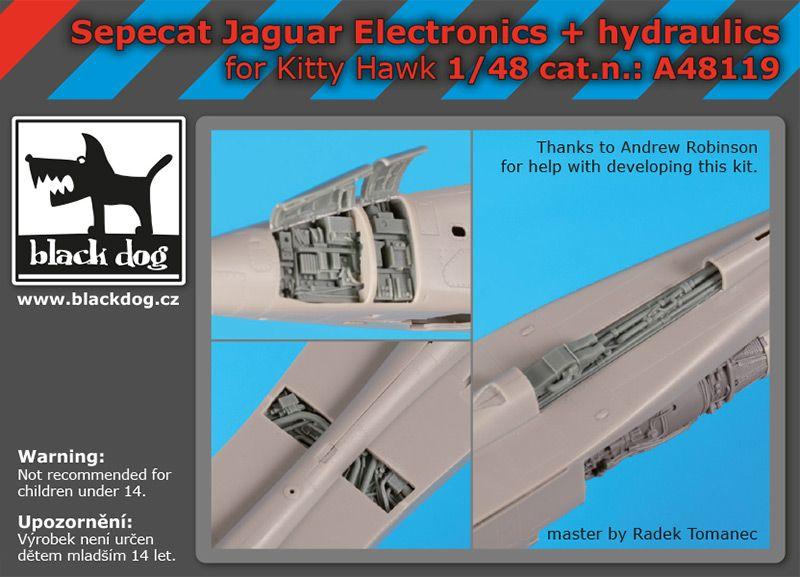 A48119 1/48 Sepecat Jaguar electronics+hydraulics Blackdog