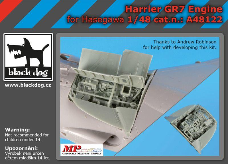 A48122 1/48 Harrier GR 7 engine Blackdog