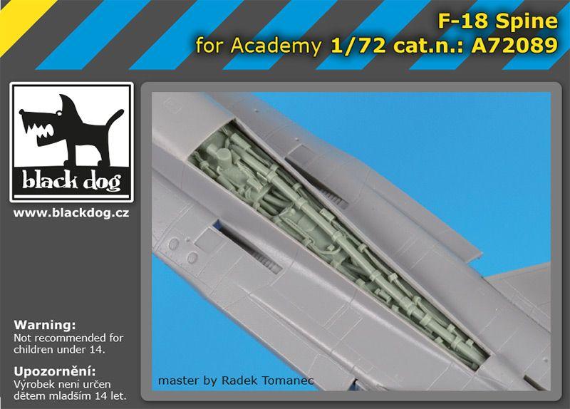 A72089 1/72 F-18 spine Blackdog