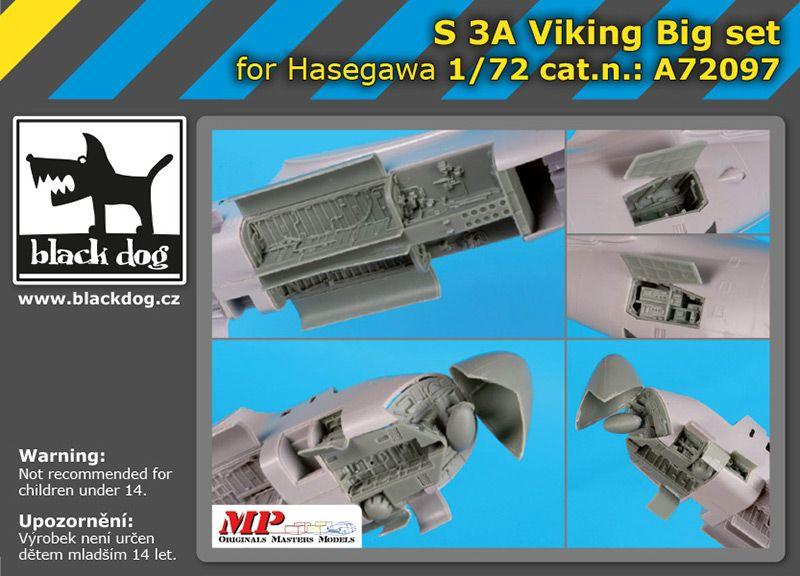 A72097 1/72 S 3 A Viking big set Blackdog