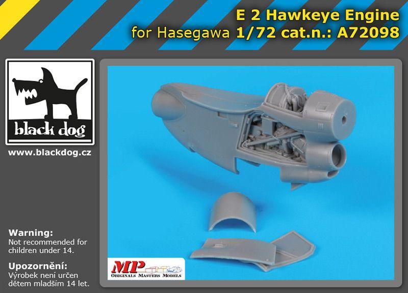 A72098 1/72 E-2 Hawkeye engine Blackdog