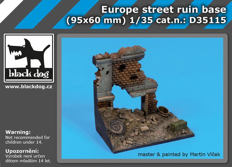 D35115 1/35 Europe street ruin base Blackdog