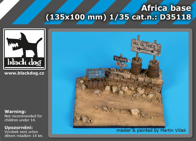 D35118 1/35 Africa base Blackdog