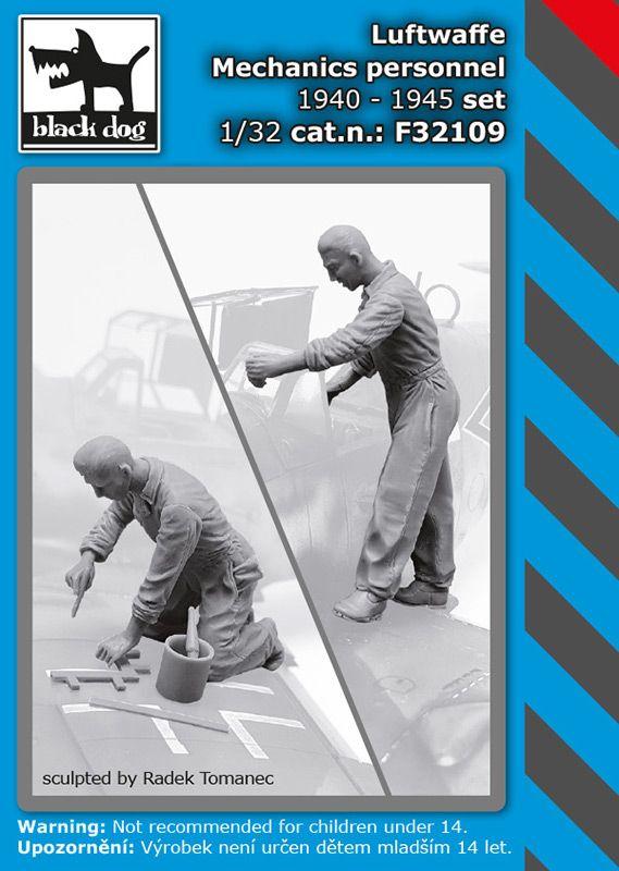 F32109 1/32 Luftwaffe mechanics personnel 1940-45 set Blackdog