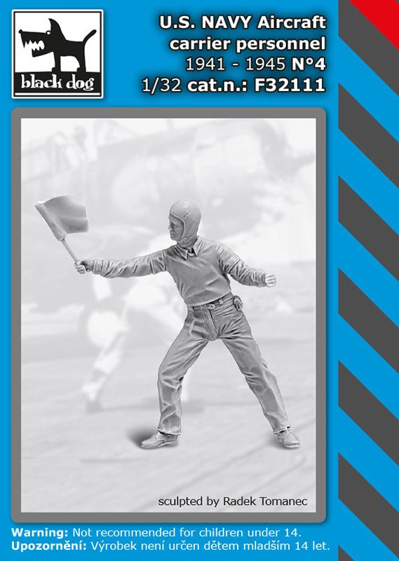 F32111 1/32 U.S. NAVY aircraft carrier personnel 1941-45 N°4 Blackdog