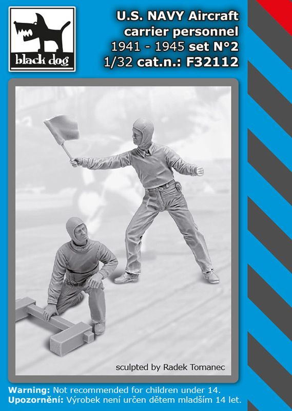 F32112 1/32 U.S. NAVY aircraft carrier personnel 1941-45 set N°2 Blackdog