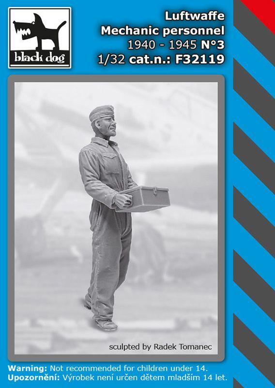 F32119 1/32 Luftwaffe mechanic personnel N°3 Blackdog