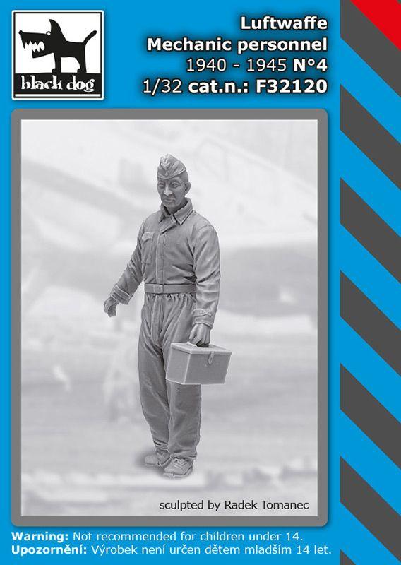 F32120 1/32 Luftwaffe mechanic personnel N°4 Blackdog