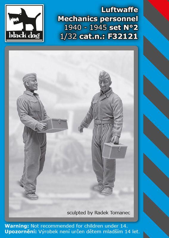 F32121 1/32 Luftwaffe mechanics personnel set N°2 Blackdog