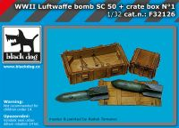 F32126 1/32 WW II Luftwaffe bomb Sc 50+crate box