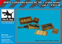 F32128 1/32 WW II Luftwaffe bomb Sc 50+crate boxes
