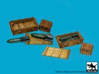 F32128 1/32 WW II Luftwaffe bomb Sc 50+crate boxes Blackdog