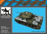 T35226 1/35 Soviet heavy tank KV -1 accessories set