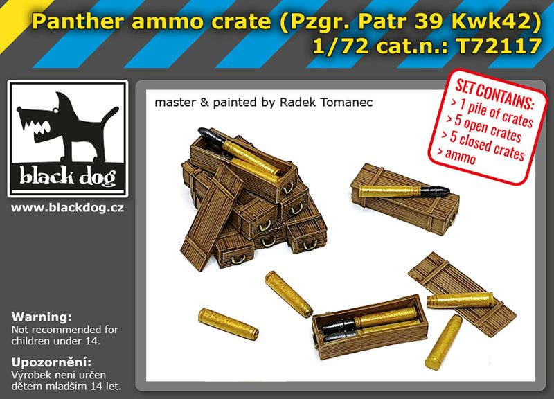T72117 1/72 Panther ammo crate Blackdog