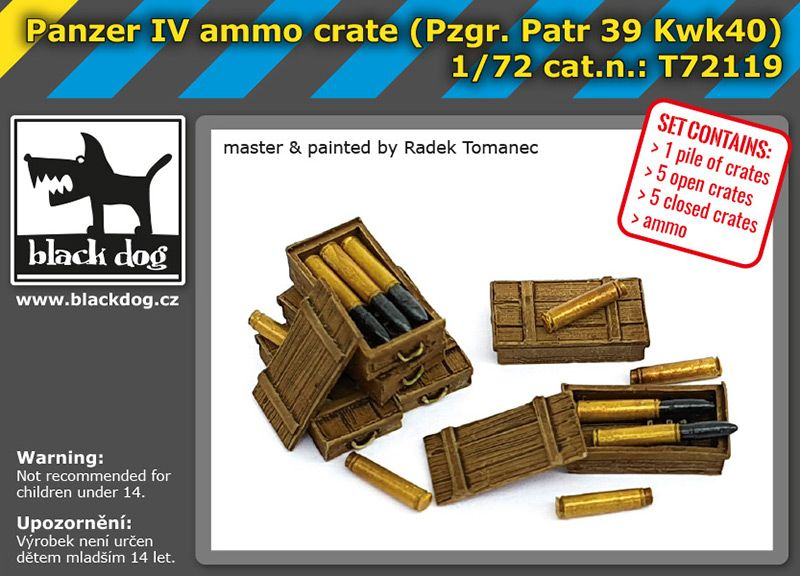 T72119 1/72 Panzer IV ammo crate Blackdog