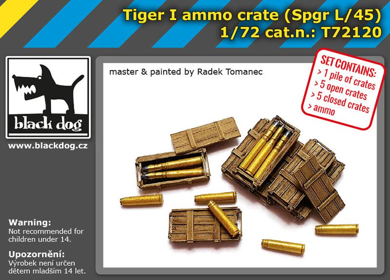 T72120 1/72 Tiger I ammo crate Blackdog