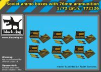 T72126 1/72 Soviet ammo boxes with 76 mm ammunition