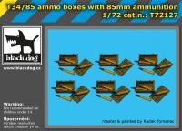 T72127 1/72 T34/85 ammo boxes with 85 mm ammunition